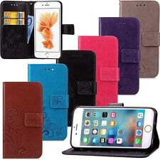 New Clover Flower Flip Stand Hybrid Wallet Leather Case Cover For Mobile Phones