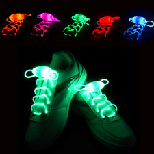 LED Shoelaces Shoe Laces Flash Light Up Glow Stick Strap Shoelaces Disco Party