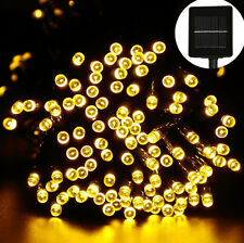 100 LED Outdoor Solar Powered String Light Garden Christmas Party Fairy Lamp 12M