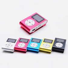 With Clip USB Mini MP3 Player LCD Screen Support 32GB Micro SD TF Card