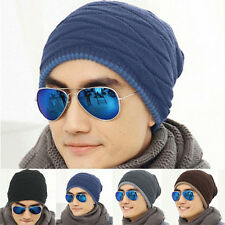 Winter Hats Warm Bonnet Thick Cap Knitted Mens Outdoor Ski Beanie Knitteing Hat