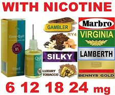 10ml BOTTLE TABACCO E JUICE LIQUID E CIG ELIQUID EJUICE 6 12 18 24mg NICOTINE