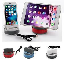 360°Rotation Desktop Car Charge Dock Stand Holder For iphone 6 7 Android Type c