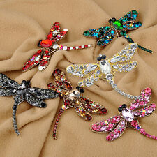 Women Fashion Dragonfly Crystal Brooch Rhinestone Scarf Pin Jewelry Fantastic