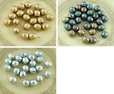 20pcs Matte Czech Glass Round Faceted Fire Polished Beads 8mm