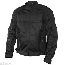 Xelement Men's 6016 Tri-Tex Mesh Black Level-3 Armored Motorcycle Jacket