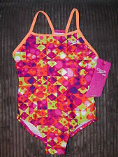 ~SPEEDO Girls One Piece 1 Pc SHAPES Swim Bathing Suit YOUTH *SIZE VARIETY* NEW