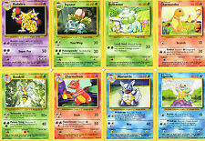 Pokemon Cards Base Set 1 102 selection RARE, COMMON, UNCOMMON