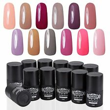 Lot 12x Gel Nail Polish Set Soak off Gel Nail Art Lacquer UV Led Lamp 6.5 ml  AU