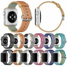 Stylish Woven Fabric Loop Strap Buckle Nylon Watch Band for Apple Watch 38/ 42mm