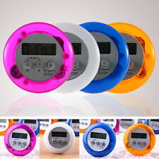New Cute Mini Round LCD Digital Cooking Home Kitchen Countdown UP Timer Alarm TY