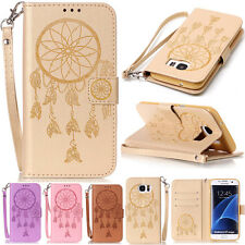 Luxury Flip Wallet Wind chimes Patterned Leather Case Cover With Stand For Phone