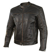 Xelement 151 Boone Brown Distressed Level-3 Armored Leather Motorcycle Jacket