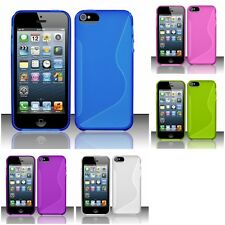 For Apple iPhone 5/5S/SE S-Shape TPU Rubber Skin Case Cover