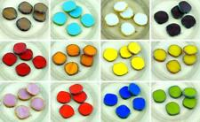 2pcs Picasso Flat Round 8Edge Window Table Cut Coin Czech Glass Beads 22mm