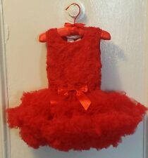 Popatu Girls Red Ruffled Tutu Petti Dress Easter,Holiday 18,24 month NWT