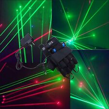 MultiColor Green Red Beam Laser Glove Chargeable Light DJ Dance Disco Club Stage