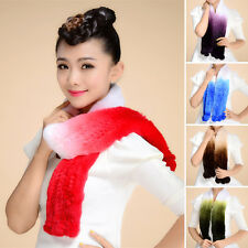 Real Rex Rabbit Fur Scarf Shawl Cape Stole Scarves Xmas Series Winter Scarf Neck