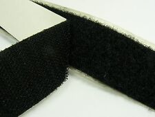 BLACK Strong 50mm width SELF Adhesive  HOOK and LOOP Fastener TAPE