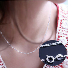 Women Jewelry 925 Sterling Silver Water Wave Chain Necklace ( DIY Necklace) 2016