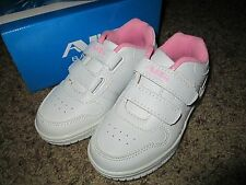 Toddler Girls White/Pink Sneakers shoes size 4-9 Brand New