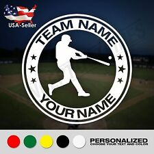 Baseball Custom Name Decal Personalized Sticker Team And Player Name