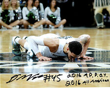 Denzel Valentine MSU Michigan State FAN PACK signed reprint 8x10 photo & card