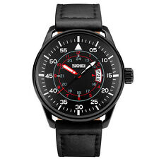 Mens Watches Casual Sports Wrist Watch Luminous Hands Leather Strap Wristwatch