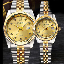Luxury Lovers Wristwatch Round Quartz Watch Water Resistant Watch For Couples
