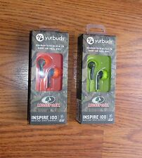 JBL Yurbuds Inspire 100 Earphones Earbuds Mossy Oak Green & Orange NEW