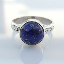 925 Solid Sterling Silver Ring Natural Lapis Lazuli US Size 4 to 13