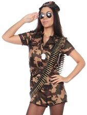 Adult Sexy Army Girl Costume Camo Soldier Fancy Dress Ladies Womens  Small  (8)