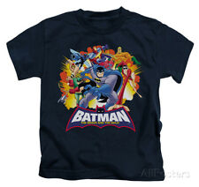 Juvenile: Batman The Brave and the Bold - Explosive Heroes Kids T-Shirt - Navy