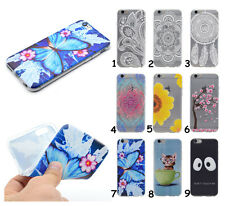 Slim Rubber Silicone Clear Soft TPU Flower Back Case For iPhone Huawei LG Lenovo