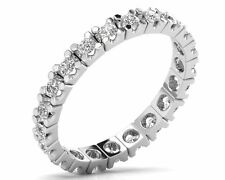 0.70ct Round Brilliant Cut Diamond Full Eternity Ring in 18K White & Yellow Gold