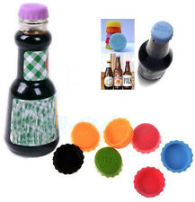 Unused 6pcs/lot Silicone Beer Bottle Cap Creative Beverage Bottle Top Crown Cap