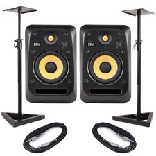 KRK V6S4 (Pair) With Stands & Cables