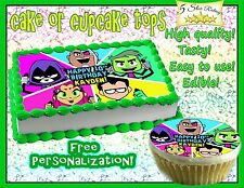 Teen Titans Go Birthday Cake topper Edible Icing Image Photo sheet sugar paper