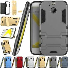 For HTC Bolt / HTC 10 Evo Armor Rugged Rubber Hybrid Kickstand Case Cover