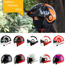 Motorcycle 3/4 Open Face Half Helmet With Full Face shield Visor YOHE DOT