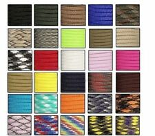 100FT/3M 550 Paracord Parachute Cord Lanyard Mil Spec Type III 7 Strand Core DP