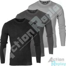 New Mens Brave Soul Knitted Stretch Ribbed Jumper