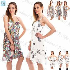 New Women's Ladies Strappy Sleeveless Chiffon Camisole Vest Tops Swing Dress