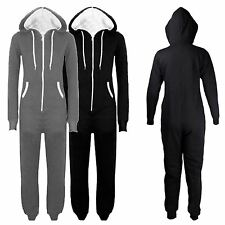 New Unisex Hooded All In One Zip Up One Piece Jumpsuit M-3XL