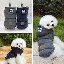 Jacket Pet Winter Cotton Coat Hoodie Hat Warm Apparel Puppy Cat Dog Clothes