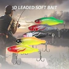 2pcs PVC Sub Soft Fishing Lure Pike Salmon Baits Bass Trout Fish Hook SetAC K6B1