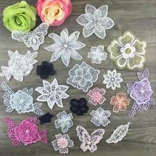 Lace flower sew on organza embroidered patch applique clothes applique transfer