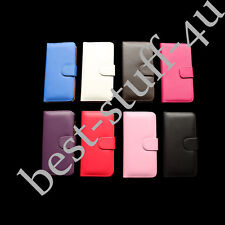 Flip Leather ^100 Wallet Case Cover Fits Samsung Mobile Free Screen Protector