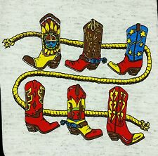 NEW T-Shirt BOOTS AND ROPE Western Little Cowboy Baby Cowgirl Spurs Show Rodeo
