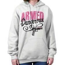 Armed & Dangerous Girls 2nd Amendment Right to Bear Gun Shirt Hoodie Sweatshirt